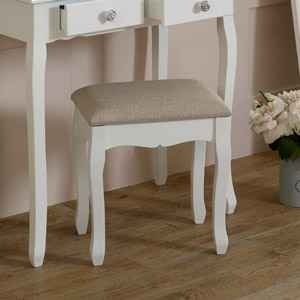 White Dressing Table Stool - Lila Range