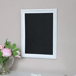 White Framed Chalk Board