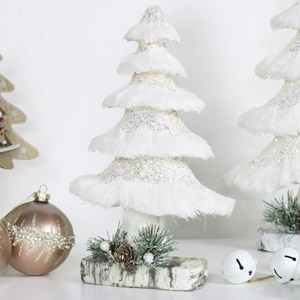 White Glitter Christmas Tree - Small