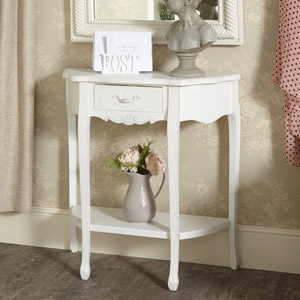 White Half Moon Console Table - Jolie Range