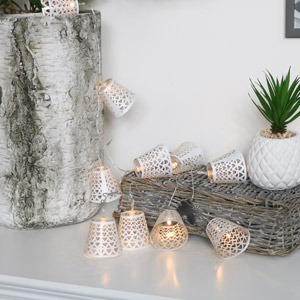 White Heart Fairy Lights Garland