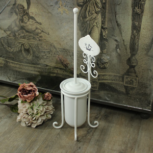 White 'Le Bain' Toilet Brush and Holder