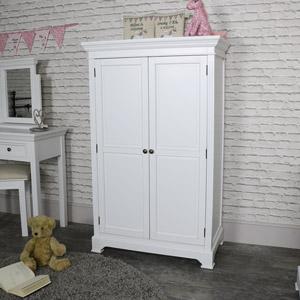 White Linen Closet/Low Wardrobe - Daventry White Range SECONDS ITEM
