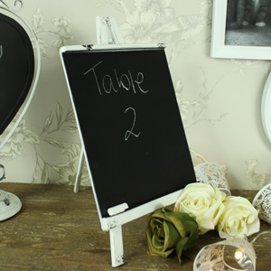 White Metal Easel Stand Chalk Board