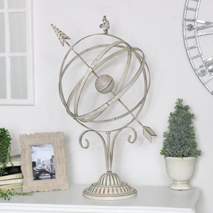White Rustic Armillary Sphere