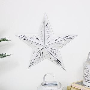 White Rustic Metal Barn Star