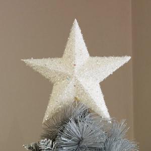 White Sparkly Christmas Tree Topper