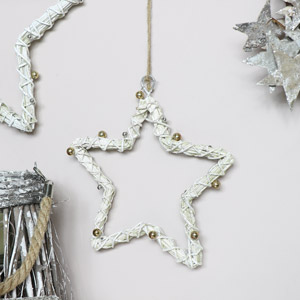 White Wall Hanging Star