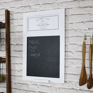 White Wooden Chalk Board