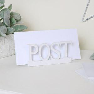 White Wooden Post Rack