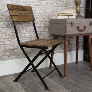 Wood & Metal Folding Chair