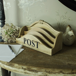 Wooden 3 Section Desktop Post Organiser