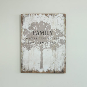 Wooden Family Tree Wall Plaque