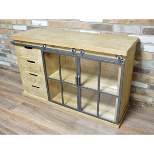 Wooden Industrial Style Cabinet