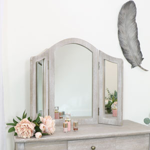 Wooden Triple Mirror - Temperley Range
