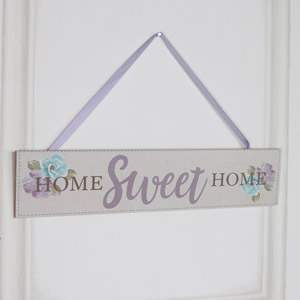 "Wooden Wall Plaque ""Home Sweet Home"""