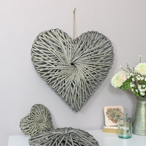 Woven Wooden Willow Heart - Large