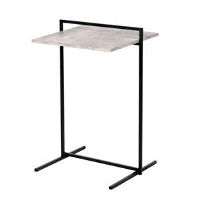 Concrete Style Black Metal Side Table