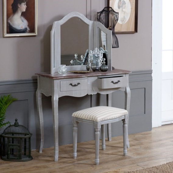 french grey dressing table set